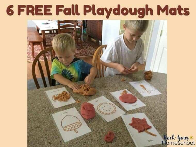 6 Free Fall Playdough Mats for Learning Fun
