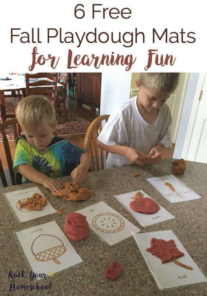 6 Fall Street Style Trends: 6 Free Fall Playdough Mats For Learning Fun