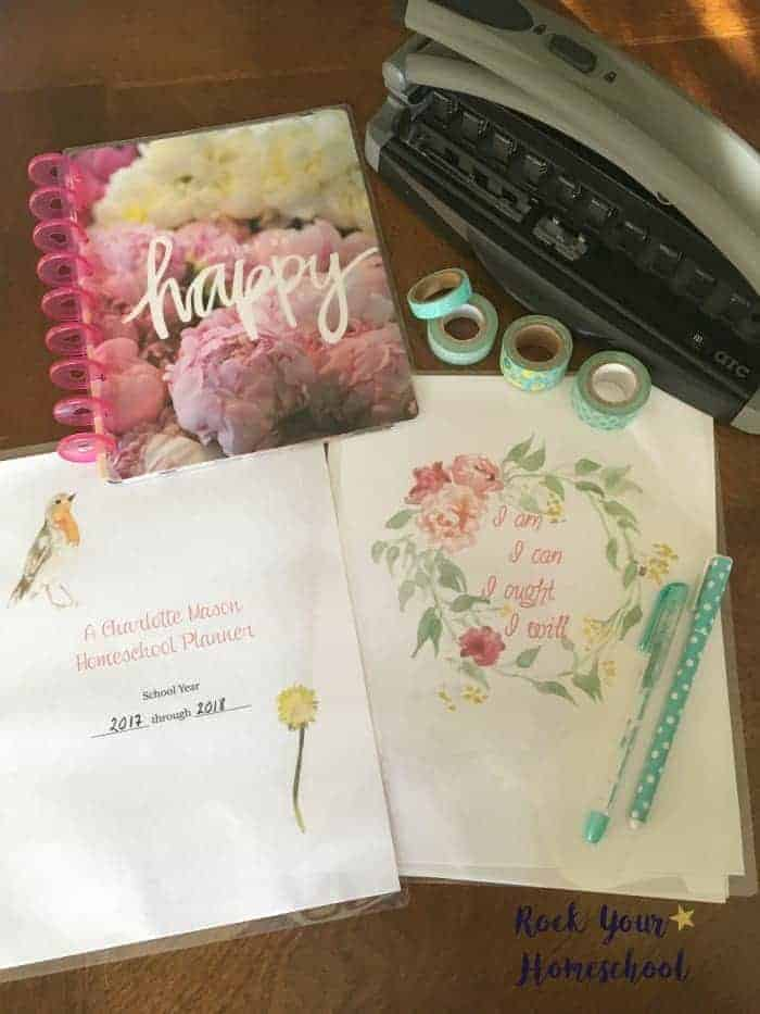 A Charlotte Mason Homeschool Planner is awesome for this eclectic homeschooler.