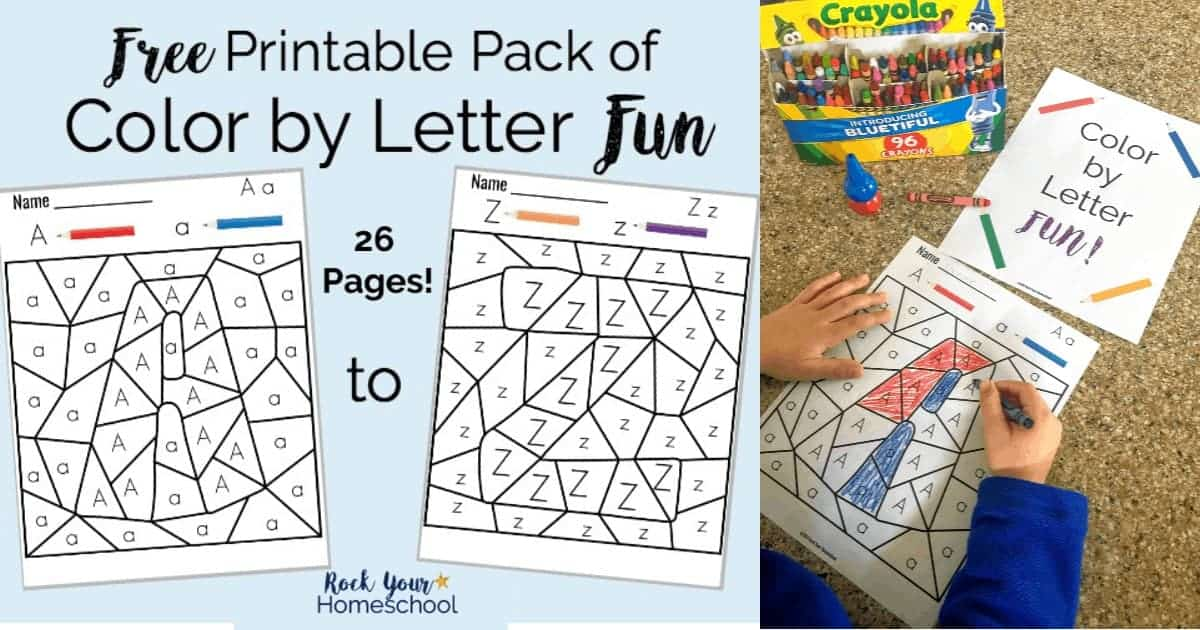 Free Printable Pack Of Color By Letter Fun Rock Your Homeschool