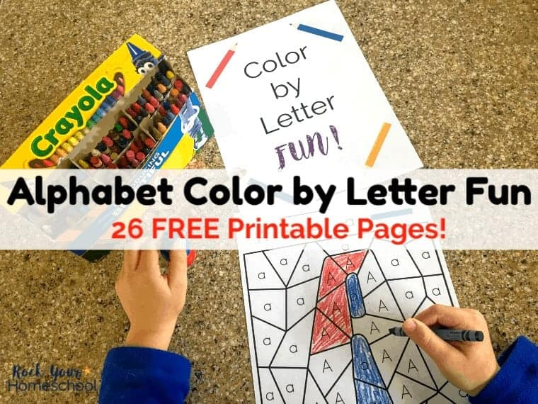 Free Printable Pack of Color by Letter Fun Worksheets