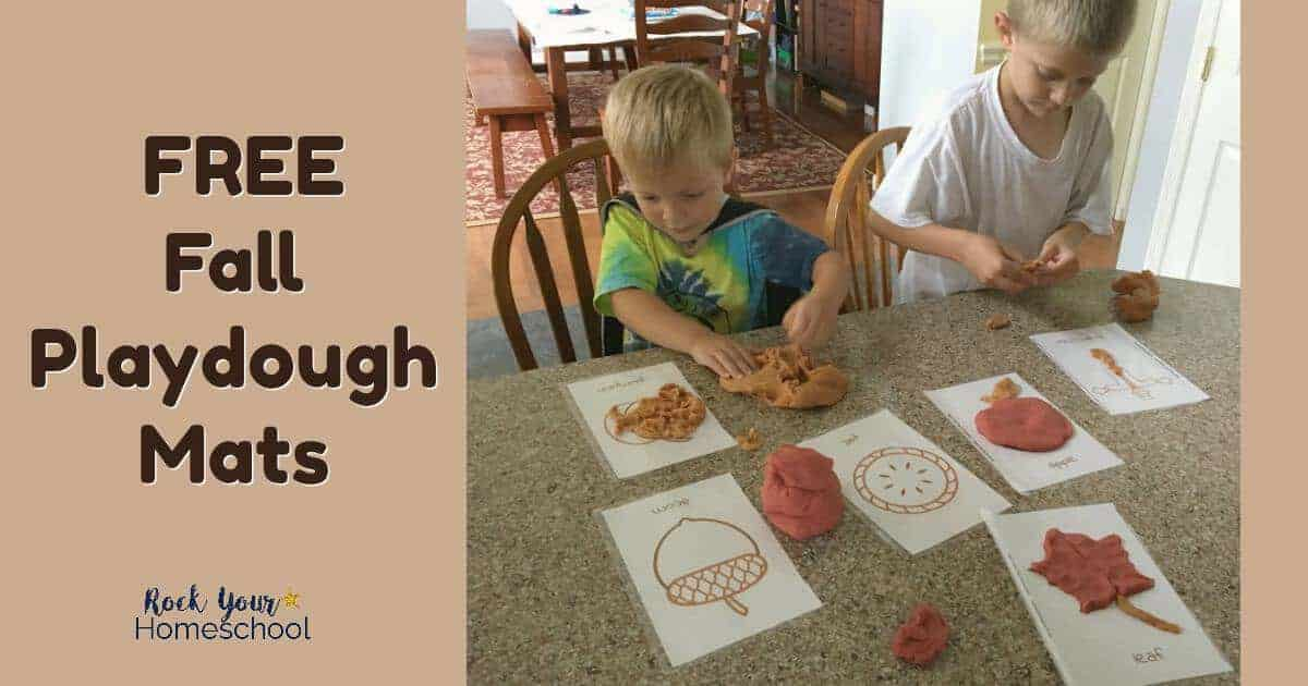 You can have fantastic learning fun with your kids with these free Fall Playdough Mats.