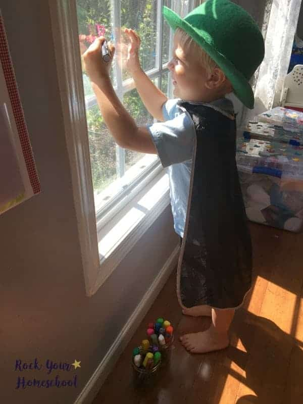 Have easy homeschool fun with window chalk markers!