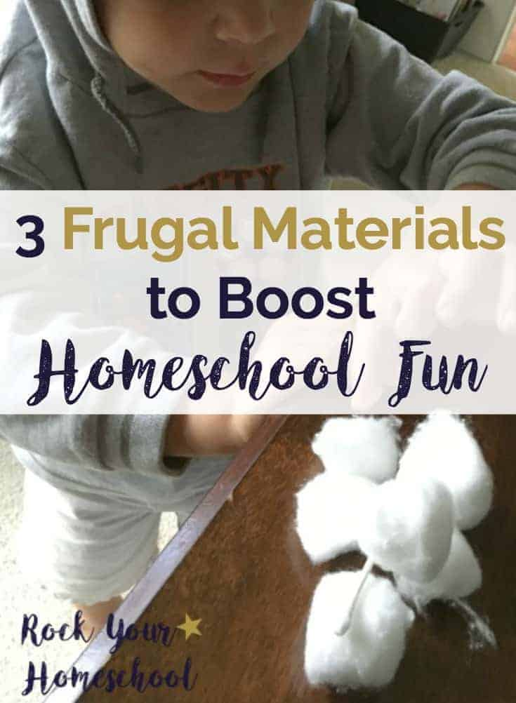 Homeschool fun can be affordable.  Check out these 3 frugal materials that you can use to boost your homeschooling adventures.