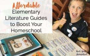 Get the help you need for reading with these affordable & easy-to-use elementary literary guides. Great ways to boost your homeschool!