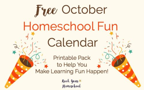 Free October Homeschool Fun Calendar