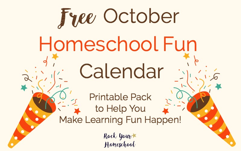 Get ready for some outstanding October homeschool fun with this free printable pack with daily activities & weekly supplies checklist. Easy ways to make learning fun happen!