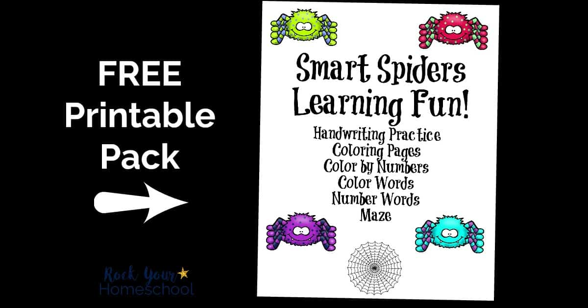 Have some super learning fun with spiders & this free printable pack!