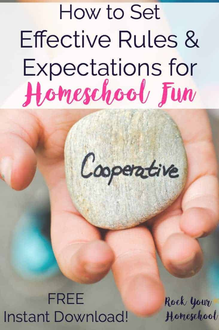 Homeschool fun doesn't have to be chaotic or scary. Learn how to set effective rules & expectations to help you & your kids enjoy these special moments that boost learning fun.