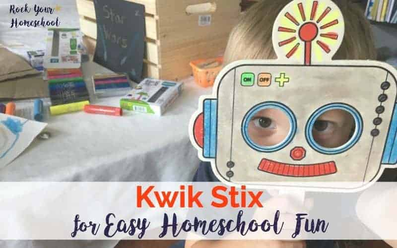 Find out why we love Kwik Stix for easy homeschool fun. So many creative projects with virtually no mess!
