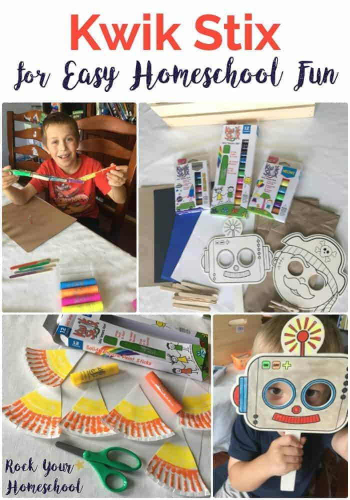 Looking for an easy way to have awesome homeschool fun? Find out why my 5 boys & I love Kwik Stix for virtually no mess painting projects & more!