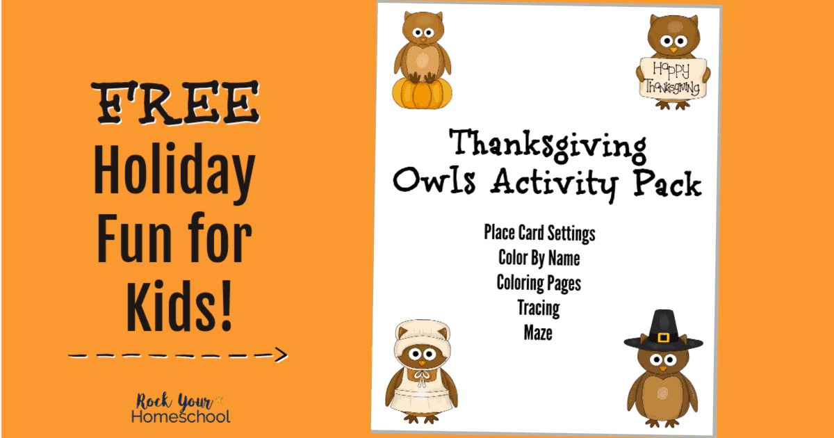 Keep your kids this holiday as they help you prepare with this free printable Thanksgiving Owls activity pack.