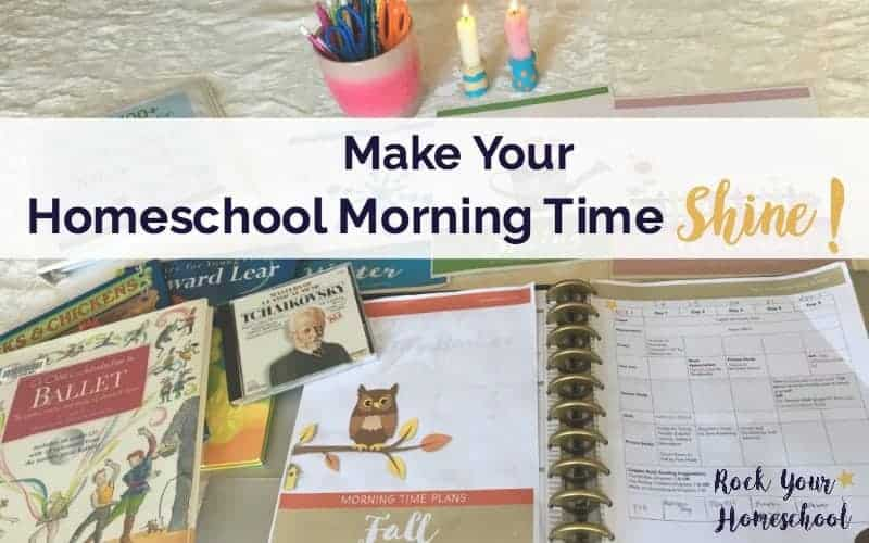 Homeschool Morning Time doesn't have to be a struggle! Find out how this busy homeschool mom to 5 boys makes our morning time shine!