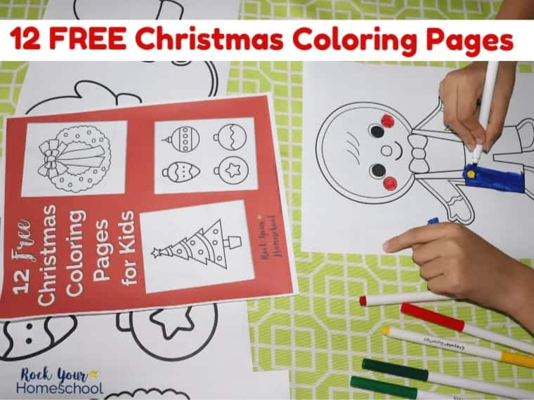 Enjoy these 12 free Christmas Coloring pages for easy holiday fun with kids.