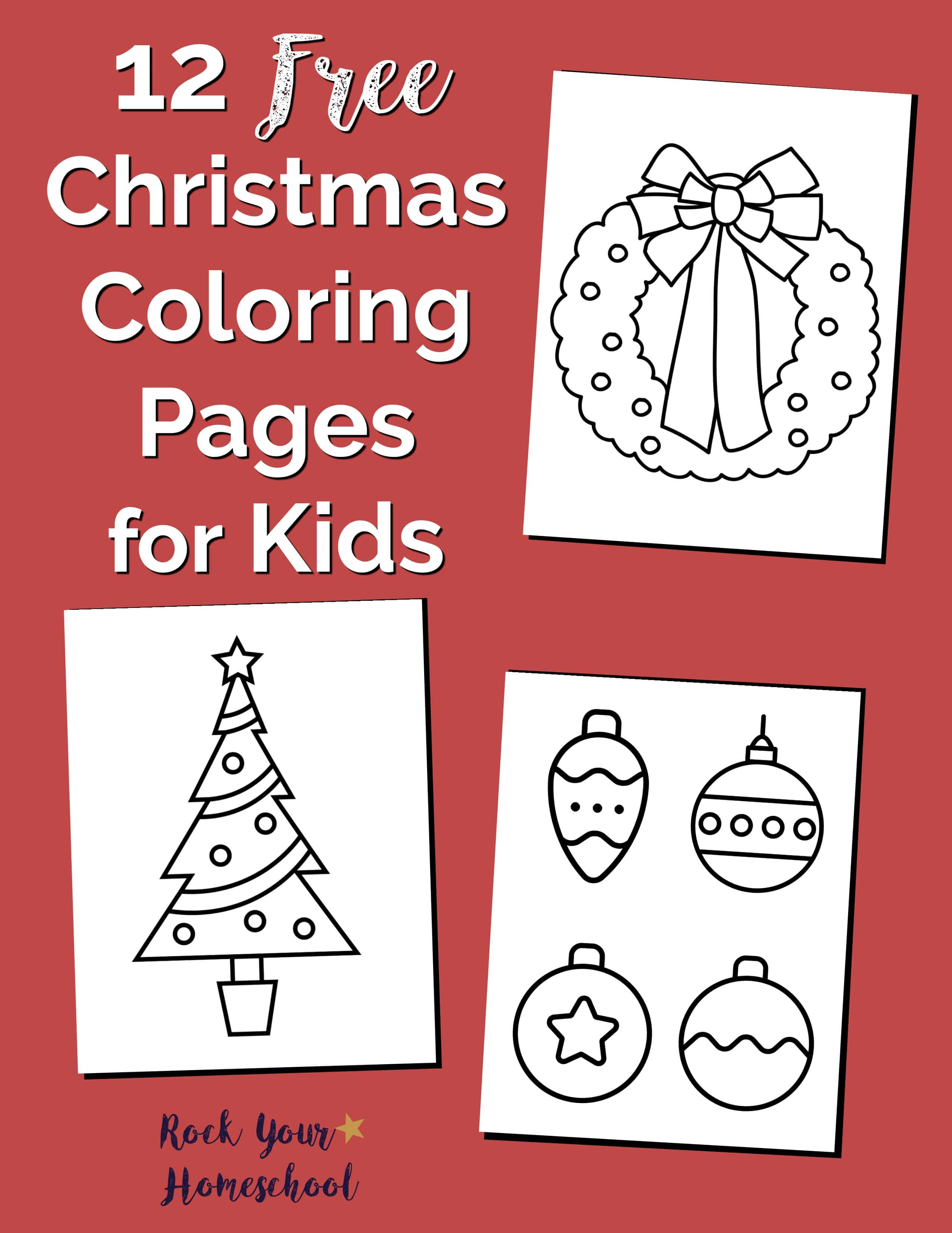 Free Christmas Coloring Pages for Kids & Adults - 1+1+1=1 | 3300x2550