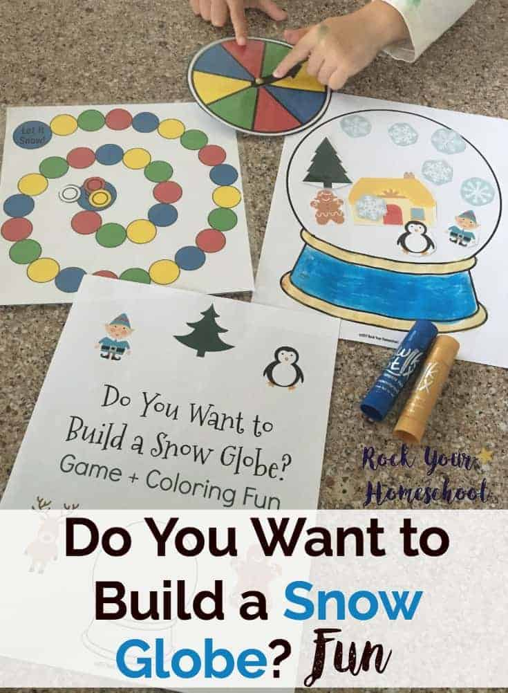 Do You Want to Build a Snow Globe? Fun free printable pack has great activities for winter. Use the non-competitive game with all ages. The coloring page is awesome for more fun with snow globes.