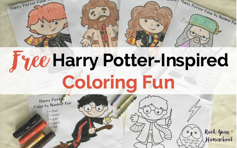 Free Printables for Harry Potter-Inspired Coloring Fun