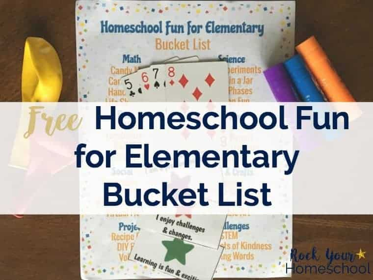 Free Homeschool Fun for Elementary Bucket List