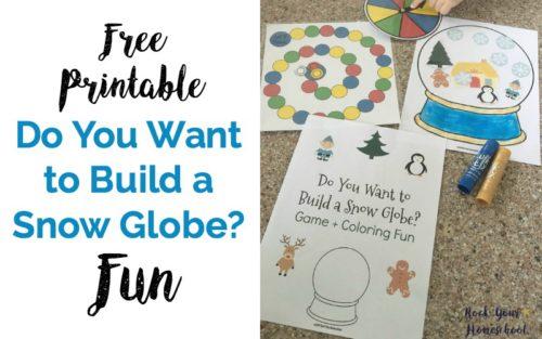 Free Printable Do You Want to Build a Snow Globe? Fun