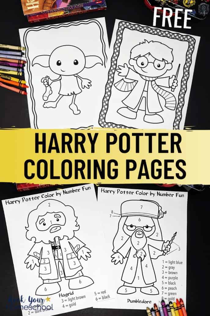 Free Harry Potter-Inspired Coloring Pages for Creative Fun