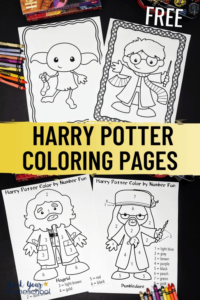 Harry Potter coloring pages & Harry Potter color-by-number pages to feature how you can have creative fun with these free printable coloring pages for kids