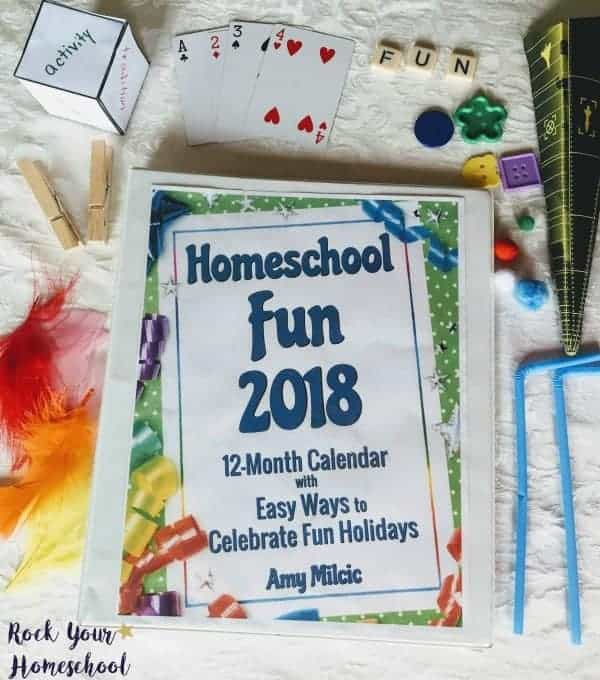 Make 2018 the most fun homeschool year ever with Homeschool Fun 2018, a 12-month calendar with easy-to-do daily activities to help busy moms boost learning fun.
