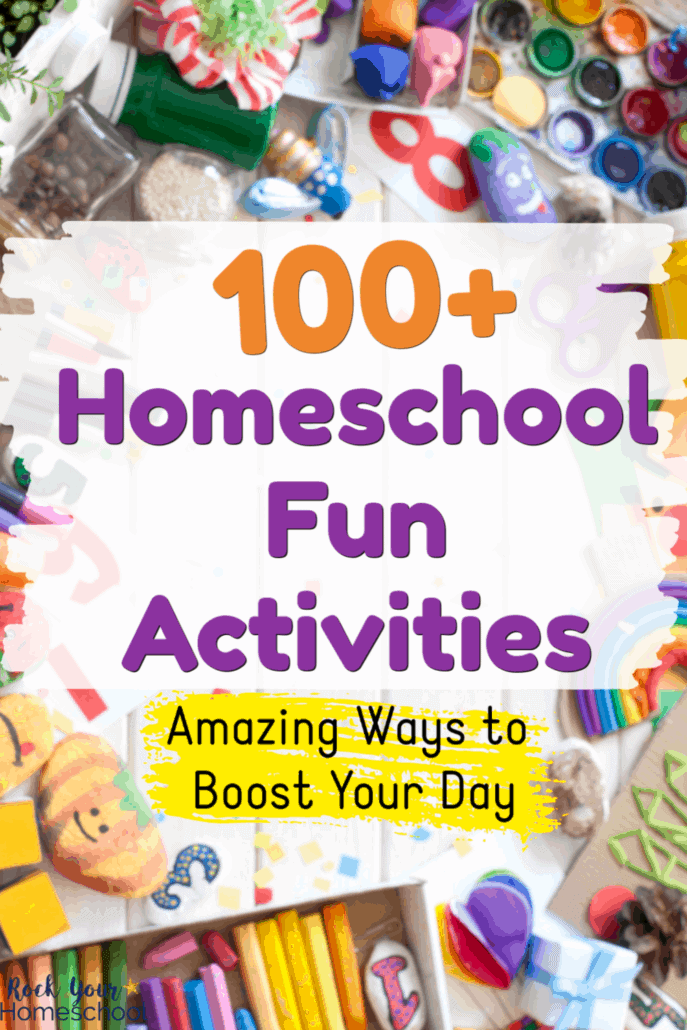 Fun school & art supplies to feature the 100+ homeschool fun activities for all ages to enjoy fun at home with kids