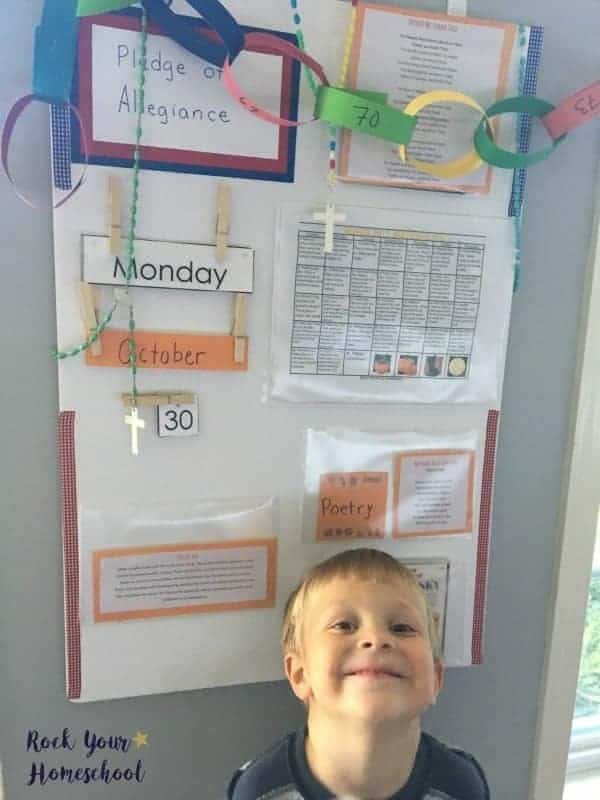 Use a morning time board to help your homeschool morning time plans flow with ease.
