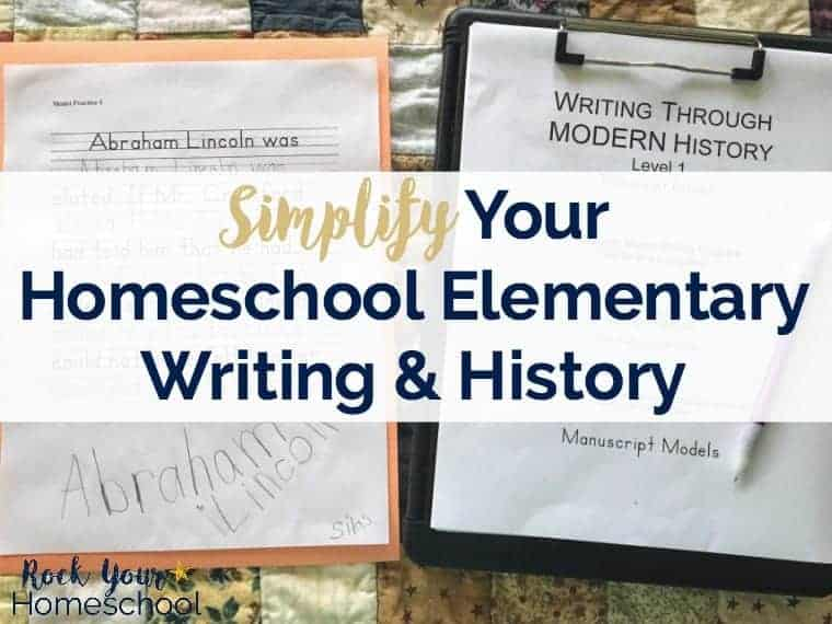 Simplify your homeschool elementary writing & history with Write Through History, a gentle Charlotte Mason approach.