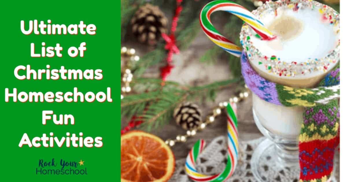 Keep the learning fun going during the holidays with this Ultimate List of Christmas Homeschool Fun Activities.