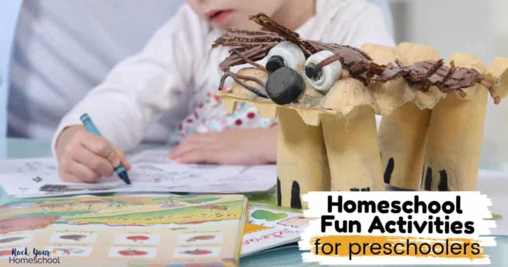 Check out these awesome ideas for homeschool fun activities with preschoolers.