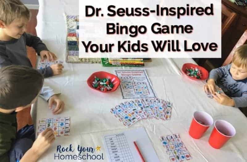 Have fun with Dr. Seuss characters! This printable Dr. Seuss-Inspired Bingo game is awesome for family & homeschool fun plus parties & classrooms.