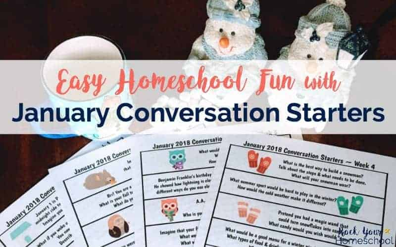 Have fun with your kids as you build communication skills with January Conversation Starters.