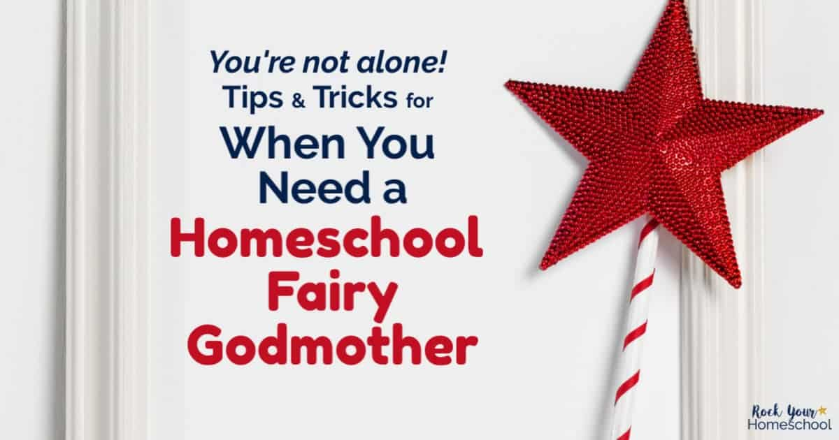 Discover how to use these tips & tricks to feel better when you need a homeschool fairy godmother.