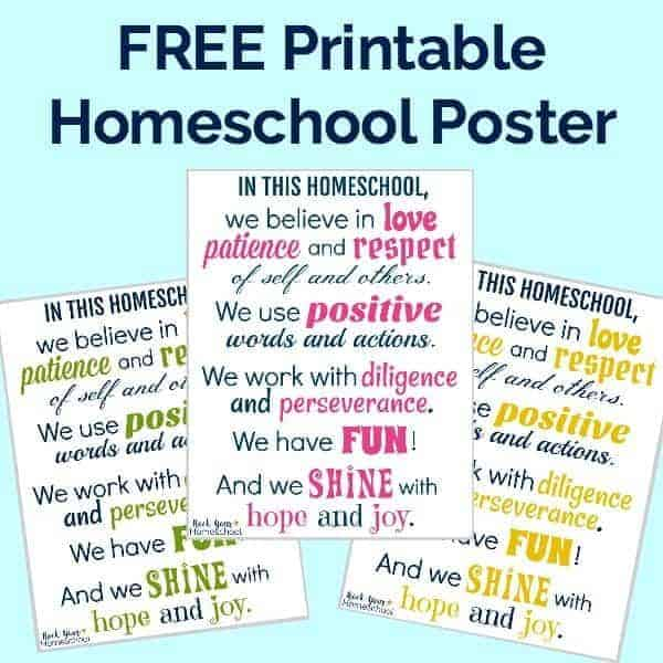 Free printable homeschool poster to inspire & motivate!