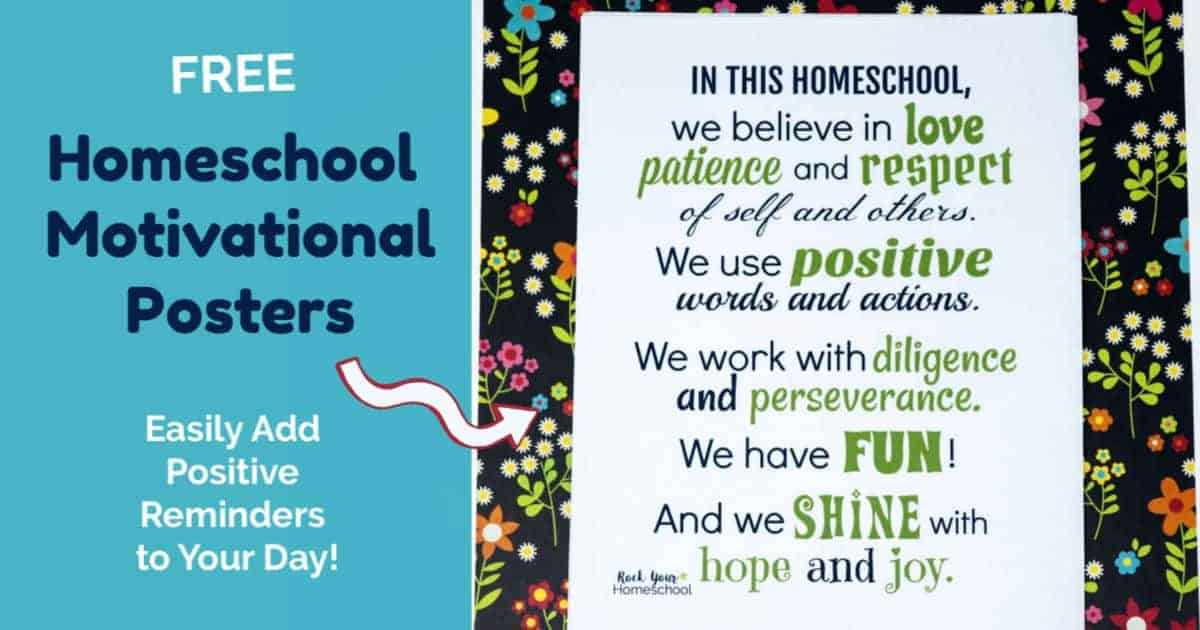 graphic regarding Printable Motivational Posters identify Cost-free Printable Homeschool Poster towards Really encourage Encourage