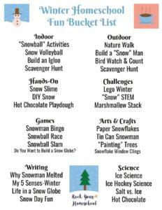 thumbnail of Winter Homeschool Fun Bucket List