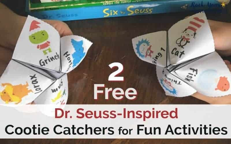 These Dr. Seuss-Inspired Cootie Catchers are great fun with kids! With prompts to get you moving, these free printables are great for classrooms, parties, family, & homeschool.