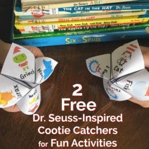 Get your 2 free Dr. Seuss-Inspired Cootie Catchers for fun activities with kids.