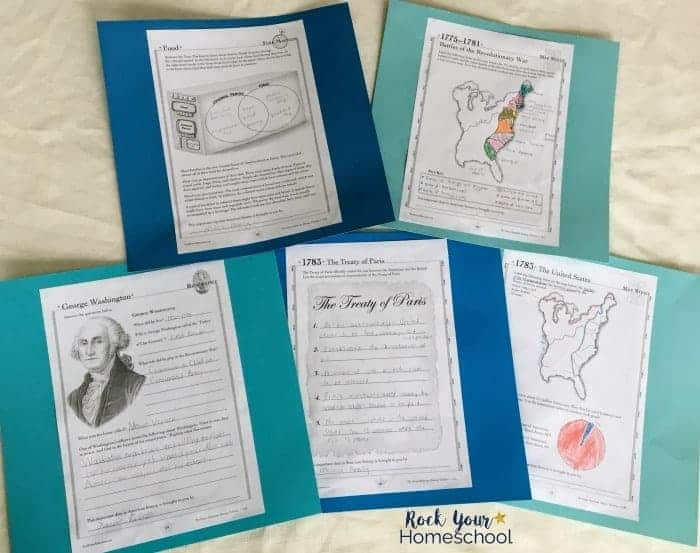 Add some hands-on learning fun to your homeschool with this American history timeline resource, including reproducible activity sheets.