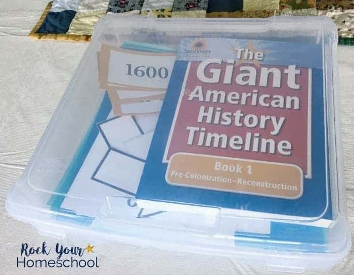 You can easily add interactive learning fun to your homeschool with this American history timeline resource.