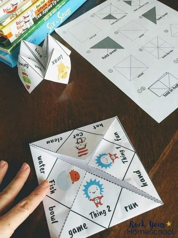 These 2 free Dr. Seuss-Inspired cootie catchers are tons of fun with kids.