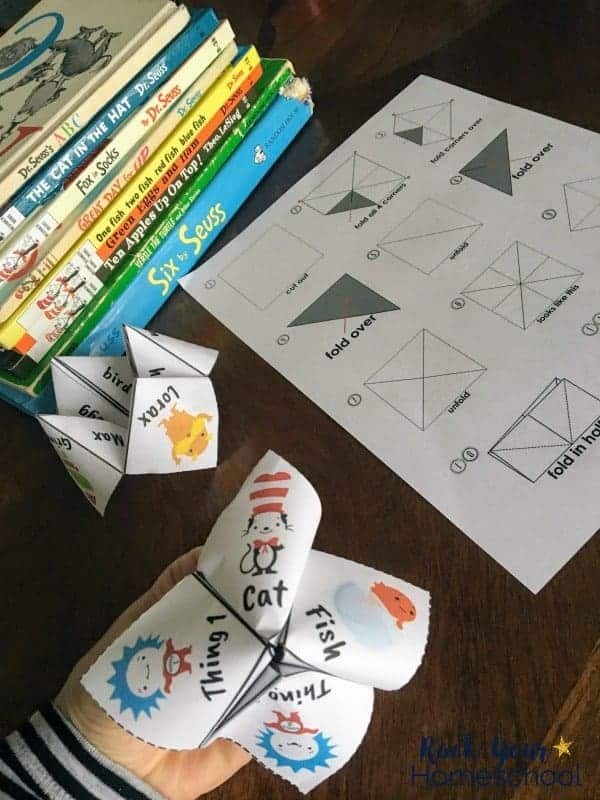 Kids love these Dr. Seuss-Inspired cootie catchers.