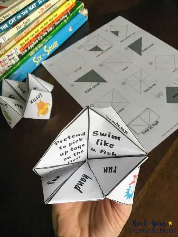 Have some fun with your kids & these free printable Dr. Seuss-Inspired cootie catchers.