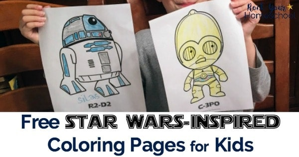 Have a blast with these Star-Wars Inspired Coloring Pages!