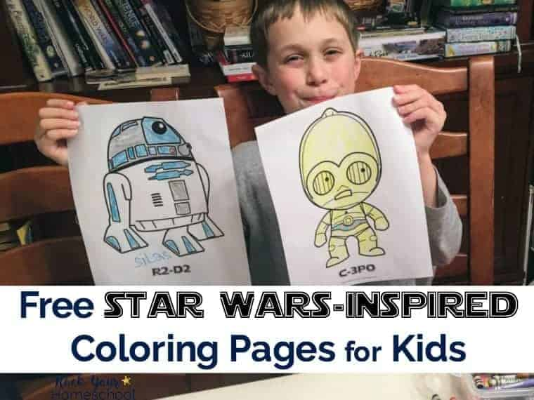 Have a blast with these Free Star Wars-Inspired Coloring Pages for Kids.