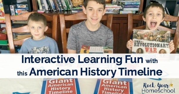 Add interactive learning fun to your homeschool with this comprehensive & affordable American history timeline resource.