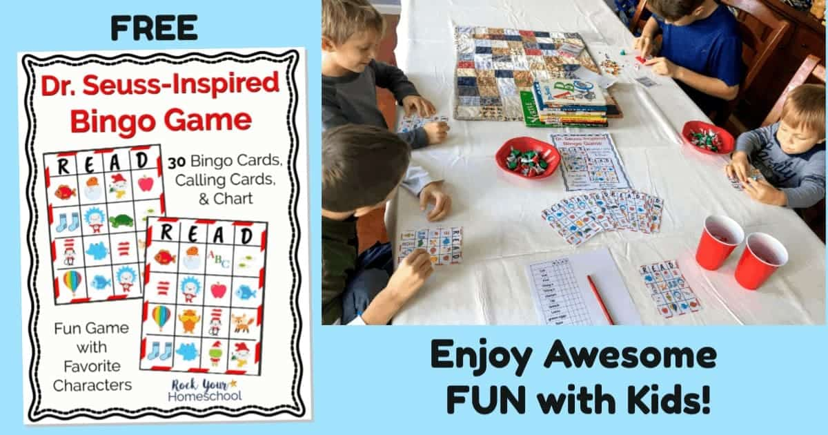 Have a blast with kids using this free printable Dr. Seuss-Inspired Bingo Game.