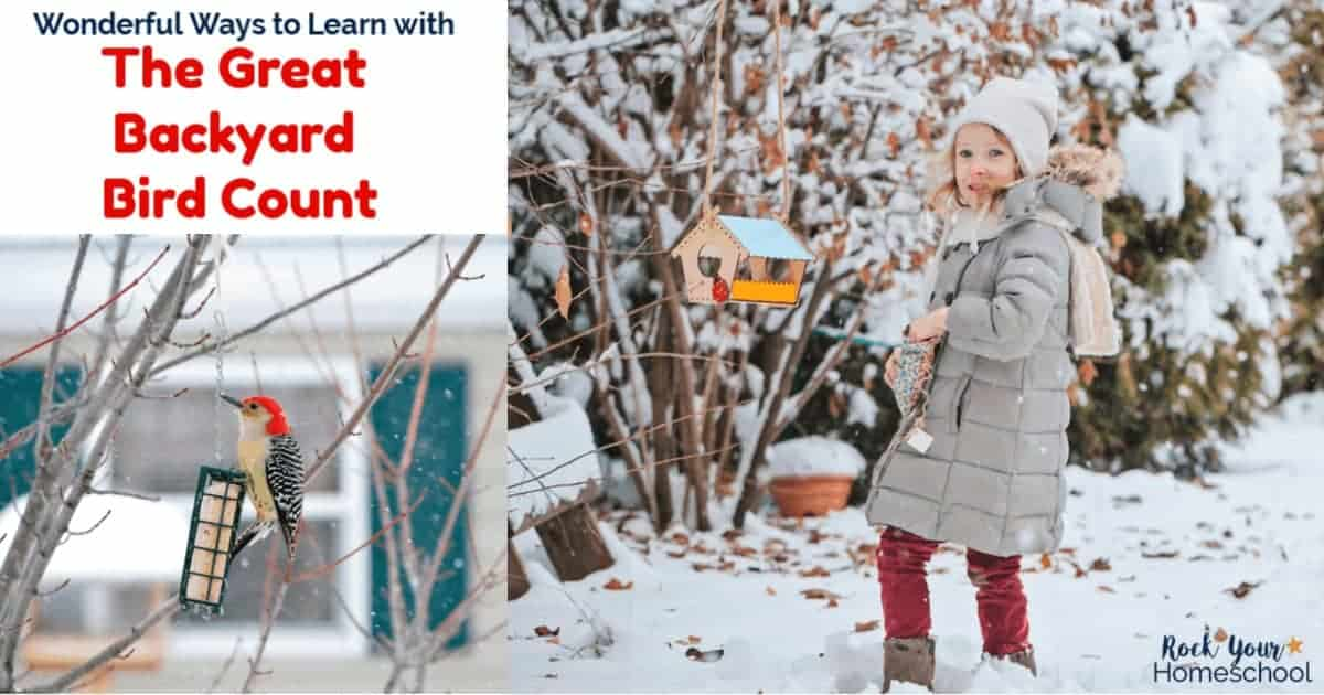 Discover wonderful ways to learn with The Great Backyard Bird Count with your kids.