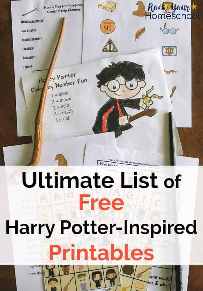 picture about Harry Potter Potion Book Printable titled Best Listing of Cost-free Harry Potter-Motivated Printables
